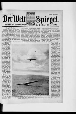 Berliner Tageblatt und Handels-Zeitung vom 27.08.1922