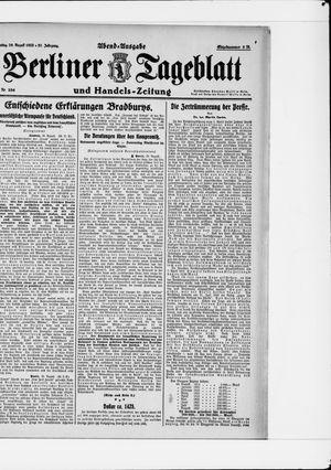 Berliner Tageblatt und Handels-Zeitung vom 29.08.1922