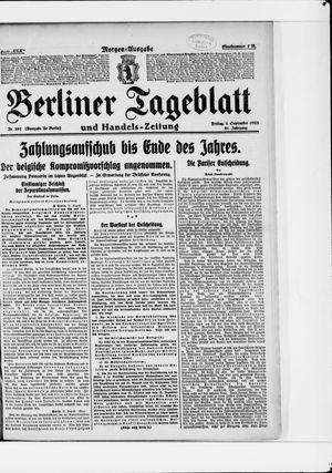 Berliner Tageblatt und Handels-Zeitung vom 01.09.1922
