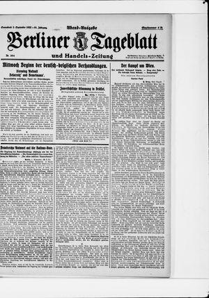 Berliner Tageblatt und Handels-Zeitung vom 02.09.1922
