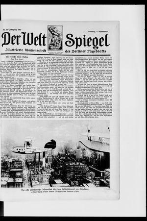 Berliner Tageblatt und Handels-Zeitung vom 03.09.1922