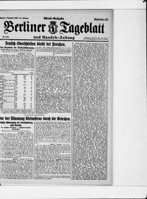 Berliner Tageblatt und Handels-Zeitung vom 04.09.1922