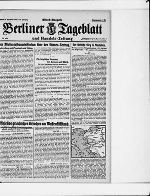 Berliner Tageblatt und Handels-Zeitung vom 06.09.1922
