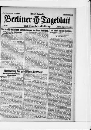 Berliner Tageblatt und Handels-Zeitung vom 08.09.1922
