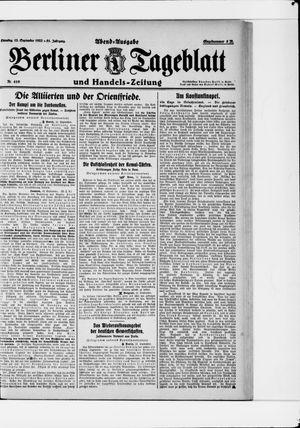 Berliner Tageblatt und Handels-Zeitung vom 12.09.1922