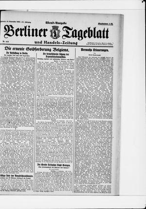 Berliner Tageblatt und Handels-Zeitung vom 13.09.1922