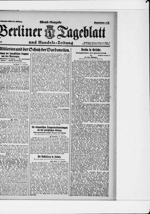 Berliner Tageblatt und Handels-Zeitung vom 15.09.1922