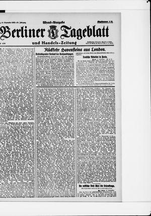 Berliner Tageblatt und Handels-Zeitung vom 18.09.1922