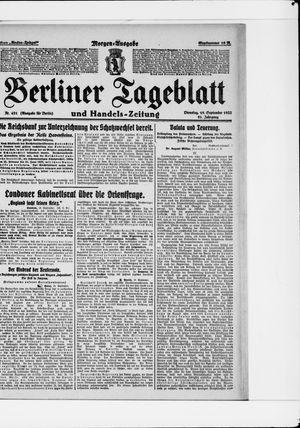 Berliner Tageblatt und Handels-Zeitung vom 19.09.1922