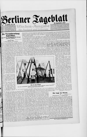 Berliner Tageblatt und Handels-Zeitung vom 20.09.1922