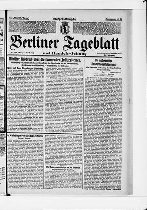 Berliner Tageblatt und Handels-Zeitung vom 23.09.1922