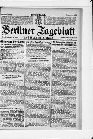 Berliner Tageblatt und Handels-Zeitung vom 24.09.1922