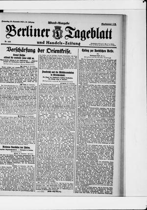Berliner Tageblatt und Handels-Zeitung vom 28.09.1922