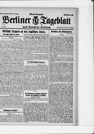 Berliner Tageblatt und Handels-Zeitung vom 29.09.1922