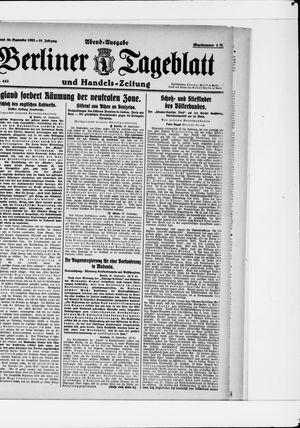Berliner Tageblatt und Handels-Zeitung vom 30.09.1922