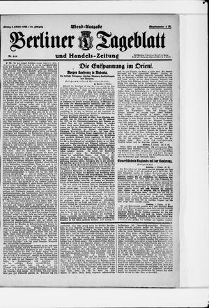Berliner Tageblatt und Handels-Zeitung vom 02.10.1922