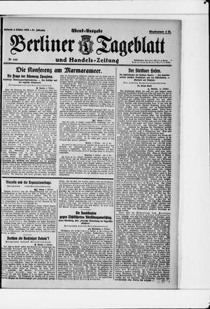 Berliner Tageblatt und Handels-Zeitung vom 04.10.1922