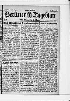 Berliner Tageblatt und Handels-Zeitung vom 05.10.1922