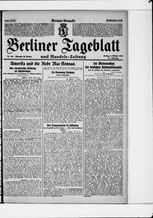 Berliner Tageblatt und Handels-Zeitung vom 06.10.1922