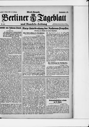 Berliner Tageblatt und Handels-Zeitung vom 07.10.1922