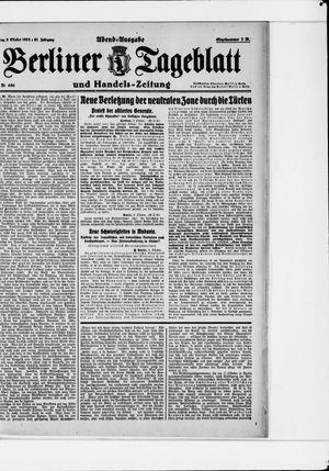 Berliner Tageblatt und Handels-Zeitung vom 09.10.1922