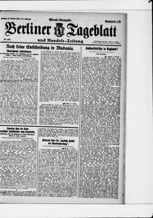 Berliner Tageblatt und Handels-Zeitung vom 10.10.1922