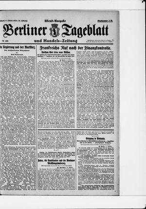Berliner Tageblatt und Handels-Zeitung vom 11.10.1922