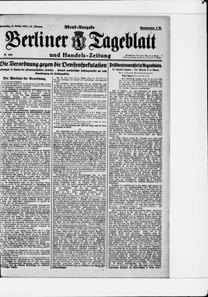 Berliner Tageblatt und Handels-Zeitung vom 12.10.1922