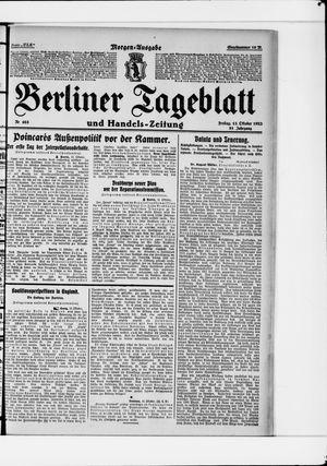 Berliner Tageblatt und Handels-Zeitung vom 13.10.1922