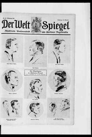 Berliner Tageblatt und Handels-Zeitung vom 15.10.1922