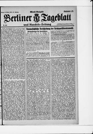 Berliner Tageblatt und Handels-Zeitung vom 16.10.1922