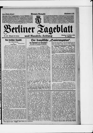 Berliner Tageblatt und Handels-Zeitung vom 17.10.1922