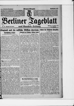 Berliner Tageblatt und Handels-Zeitung vom 18.10.1922