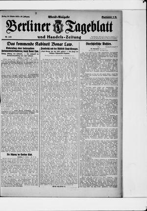 Berliner Tageblatt und Handels-Zeitung vom 20.10.1922