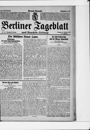 Berliner Tageblatt und Handels-Zeitung vom 22.10.1922
