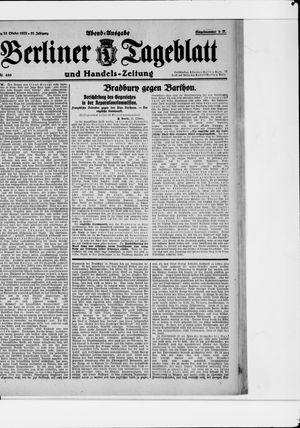 Berliner Tageblatt und Handels-Zeitung vom 23.10.1922
