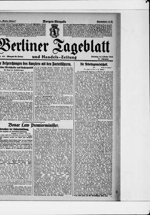 Berliner Tageblatt und Handels-Zeitung vom 24.10.1922