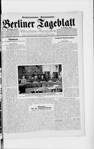 Berliner Tageblatt und Handels-Zeitung vom 25.10.1922