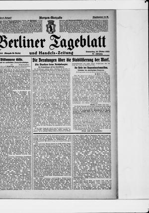 Berliner Tageblatt und Handels-Zeitung vom 26.10.1922