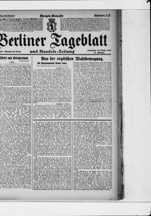 Berliner Tageblatt und Handels-Zeitung vom 28.10.1922