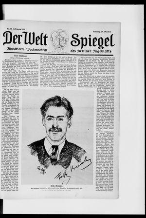 Berliner Tageblatt und Handels-Zeitung vom 29.10.1922