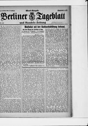 Berliner Tageblatt und Handels-Zeitung vom 30.10.1922