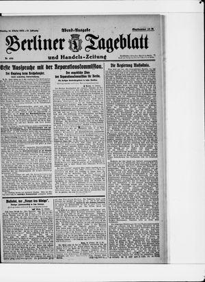 Berliner Tageblatt und Handels-Zeitung vom 31.10.1922