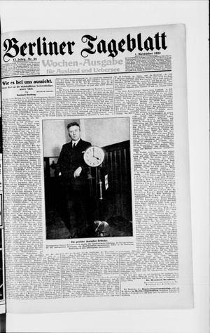 Berliner Tageblatt und Handels-Zeitung vom 01.11.1922