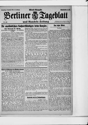 Berliner Tageblatt und Handels-Zeitung vom 02.11.1922