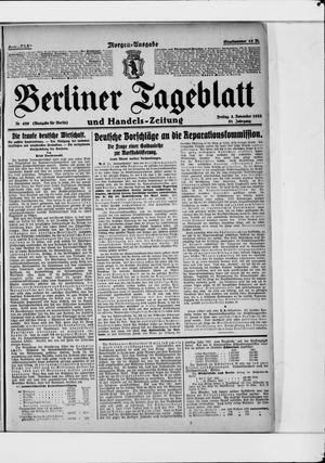 Berliner Tageblatt und Handels-Zeitung vom 03.11.1922