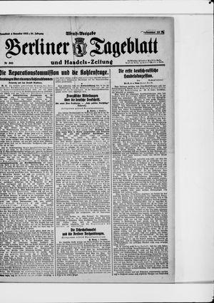 Berliner Tageblatt und Handels-Zeitung vom 04.11.1922