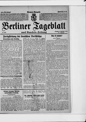Berliner Tageblatt und Handels-Zeitung vom 05.11.1922