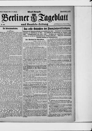 Berliner Tageblatt und Handels-Zeitung vom 08.11.1922