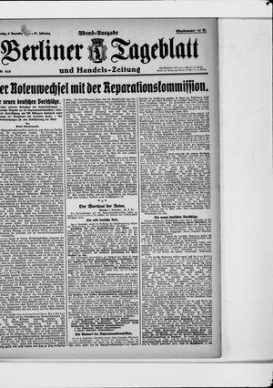 Berliner Tageblatt und Handels-Zeitung vom 09.11.1922